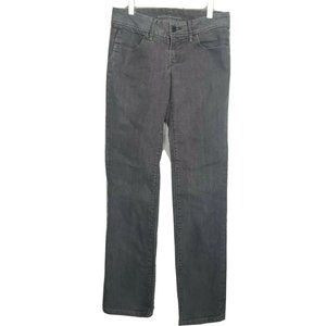 Banana Republic women's black gray straight jeans